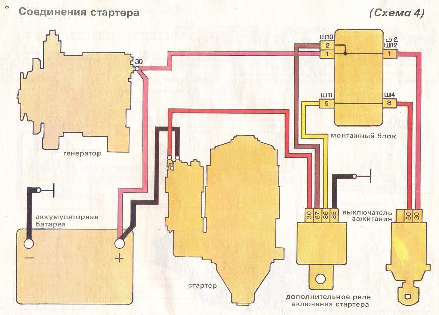 Стартер ваз 21013 схема